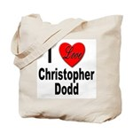 I Love Christopher Dodd Tote Bag
