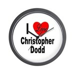 I Love Christopher Dodd Wall Clock