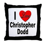 I Love Christopher Dodd Throw Pillow