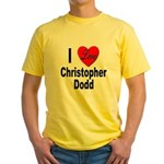 I Love Christopher Dodd Yellow T-Shirt