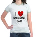 I Love Christopher Dodd (Front) Jr. Ringer T-Shirt