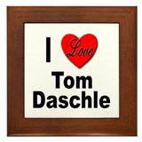 I Love Tom Daschle Framed Tile