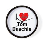 I Love Tom Daschle Wall Clock