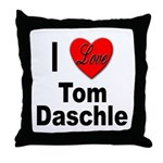 I Love Tom Daschle Throw Pillow