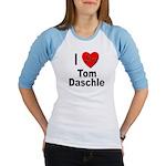 I Love Tom Daschle (Front) Jr. Raglan
