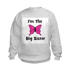 I'm The Big Sister (butterfly Kids Sweatshirt
