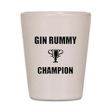 gin rummy champ Shot Glass