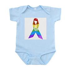 HIV Poz Pride Ribbon Infant Bodysuit