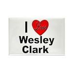 I Love Wesley Clark Rectangle Magnet (10 pack)