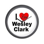 I Love Wesley Clark Wall Clock
