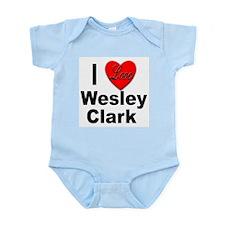 I Love Wesley Clark Infant Creeper