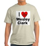 I Love Wesley Clark Ash Grey T-Shirt