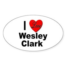 I Love Wesley Clark Oval Decal