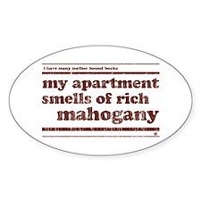 Mahogany Oval Sticker