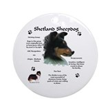 Sheltie 4 Ornament (Round)