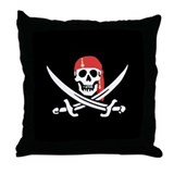 Cute Pirate Throw Pillow