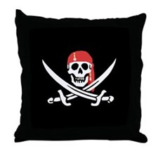 Cute Red black flag Throw Pillow
