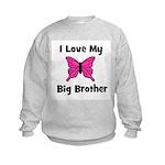 Love My Big Sister (butterfly Kids Sweatshirt