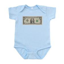 1 dollar bill Infant Bodysuit