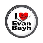 I Love Evan Bayh Wall Clock
