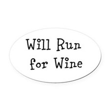 Unique Wine running Oval Car Magnet