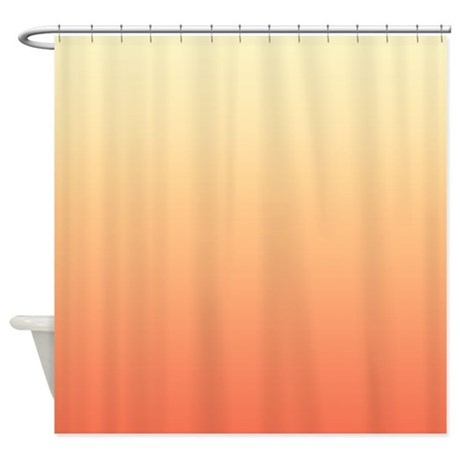 peach shower curtain by kinnikinnicktoo