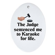 The Judge Oval Ornament