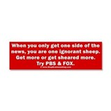 Ignorant Sheep Car Magnet 10 x 3