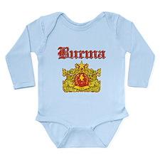 Burma Coat Of Arms Long Sleeve Infant Bodysuit