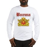 Burma Coat Of Arms Long Sleeve T-Shirt