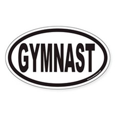 GYMNAST Euro Oval Decal