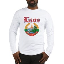 Laos Coat Of Arms Long Sleeve T-Shirt