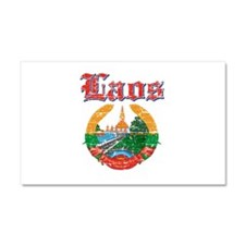 Laos Coat Of Arms Car Magnet 20 x 12