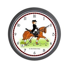 Funny Warmblood horses Wall Clock