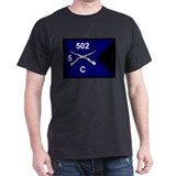 C Co. 5/502nd Black T-Shirt