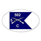 C Co. 5/502nd Oval Decal