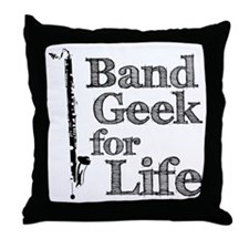 Bass Clarinet Band Geek Throw Pillow