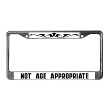 Not Age Appropriate License Plate Frame