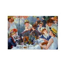 Renoir - Boating Party Rectangle Magnet