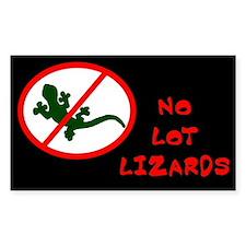 No Lot Lizards Rectangle Decal