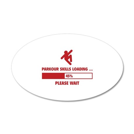 Parkour Skills Loading 22x14 Oval Wall Peel