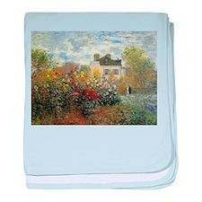 The Garden of Monet at Argenteuil baby blanket