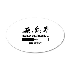 Triathlon Skills Loading 38.5 x 24.5 Oval Wall Pee