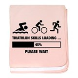 Triathlon Skills Loading baby blanket
