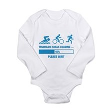 Triathlon Skills Loading Long Sleeve Infant Bodysu