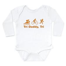 Tri Daddy, Tri Long Sleeve Infant Bodysuit