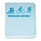 Threesome Anyone ? baby blanket