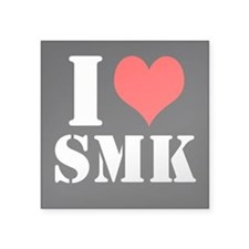 Black I ≪3 SMK Square Sticker