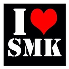 Black I ≪3 SMK Square Car Magnet