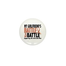 My Battle Too Uterine Cancer Mini Button (10 pack)